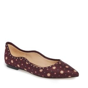 Sam Edelman Rivera flats wine women's 8